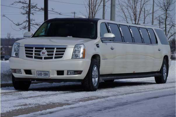Cadillac Escalade Suv Limo 18 Passenger White Allure