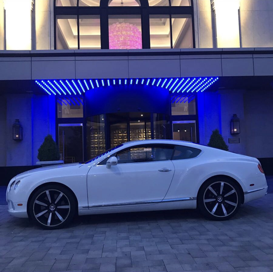WHITE BENTLEY GT COUPE
